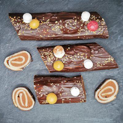Bûche en chocolat artisanal