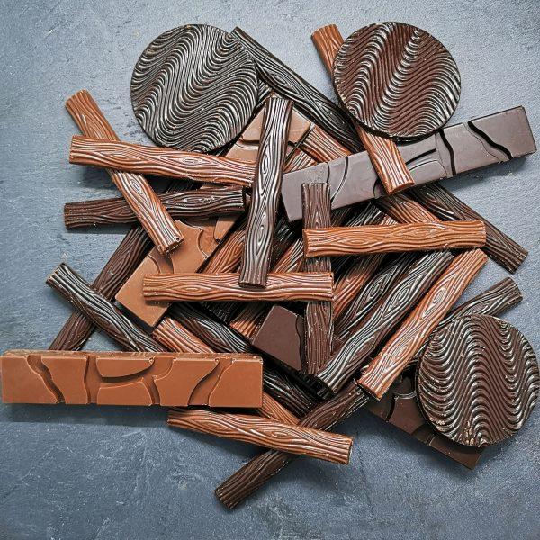 Caraques chocolat, noir, lait, blanc et origines