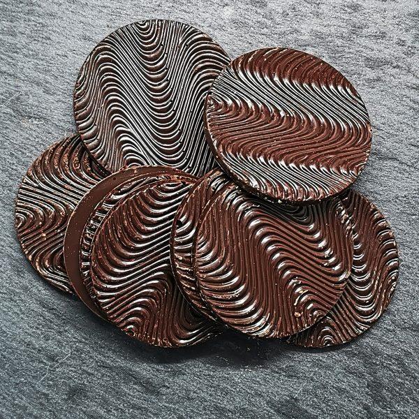 Caraque rond en chocolat