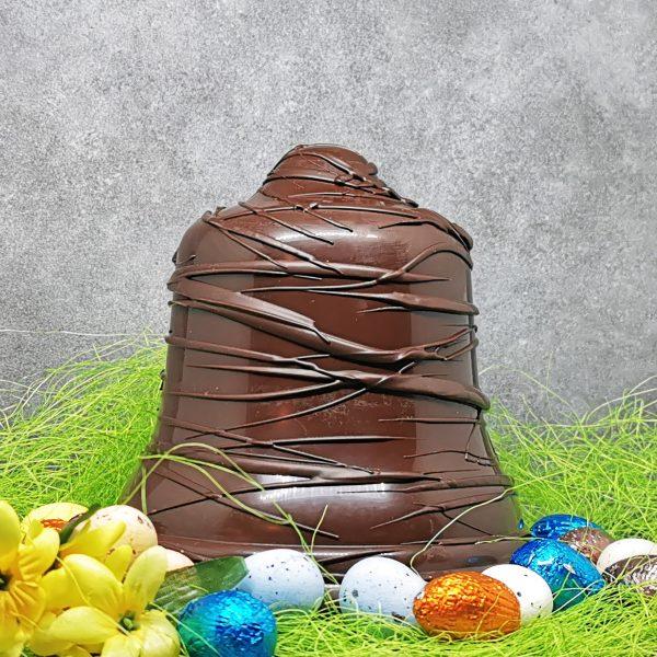 Cloche de Pâques en chocolat artisanal