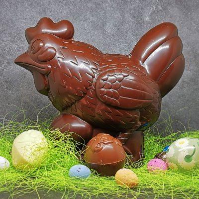 Cloche de Pâques en chocolat noir artisanal